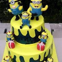 Cakes with minions