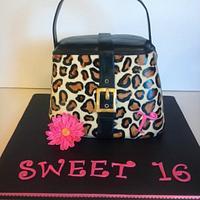 Leopard Print Purse Cake