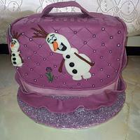 Frozen Olaf bag cake