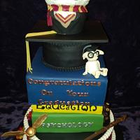 Harry Potter Graduation Cake