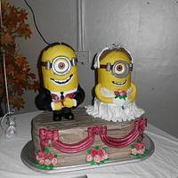 our epic minion wedding cake