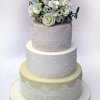 Boho Pastel Wedding Cake