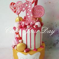 Gold & Pink Candy Cake