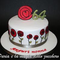 stylized flowers cake