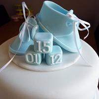 Boys Christening Cake by Sharon Todd