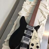 Life-size Rickenbacker John Lennon Electric Guitar Cake