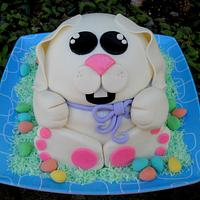 cute easter bunny cake (cheeky monkey cakes)