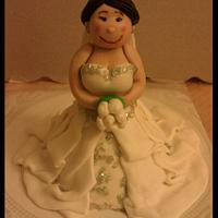 Bride & Groom cake toppers by First Class Cakes