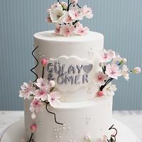 Spring engagement Cake