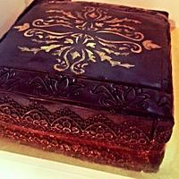 Gold Damask on Chocolate on Chocolate on Pineapple ;)