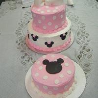Minnie Mouse Birthday Cake and smash cake