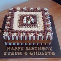 Square Chocolate cake x