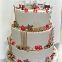 Beach Wedding Cake with Cowboy Boots