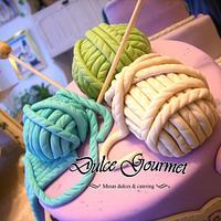 KNITTING CAKE  by Silvia Caballero