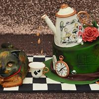 Alice in Wonderland themed cake