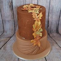 Golden Fall Cake