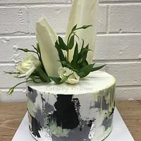 Concrete Buttercream Cake