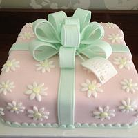 Spring pastels birthday cake