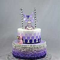 purple ombre cake