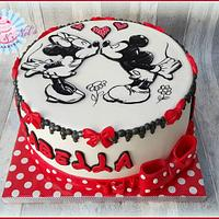 Minnie Mouse Handpainted