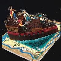 3d pirates cake