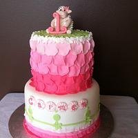 Pink Rose Pedal Cake