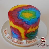 Tie-dye Cake