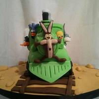 ~Looney Tunes Train Cake~