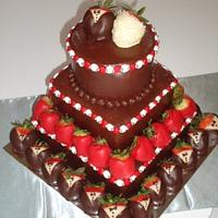 Grooms Cake with Strawberries