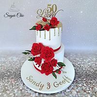 x Golden Wedding Cake x