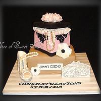 Damask Couture Bridal Shower Cake
