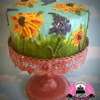 Buttercream Palette-Painted Cake