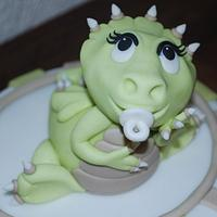 Christening Cake with little Dragon by Simone Barton