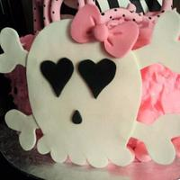 Pink, Skulls and Zebra Print by The Cakery