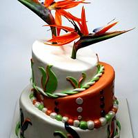 Bird of Paradise Wedding Cake in London