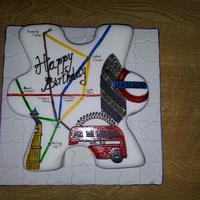 London jigsaw cake