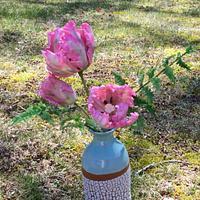 Freeform parrot tulips