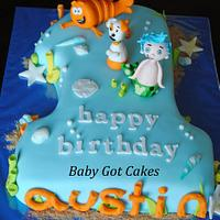 Bubble Guppies Number One Cake