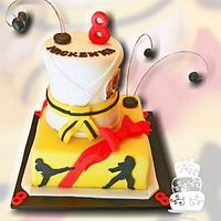 Karate Girl 8th Birthday by FaithfullyCakes