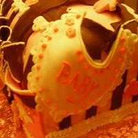 Baby Shower cake  baby bag to go by Sher