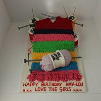 Knitted Scarf Cake!