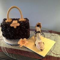 """Purse Cake & High Heel Shoe by June (""""Clarky's Cakes"""")"""
