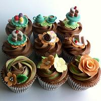 Tea party themed cupcakes by Angela Rosen