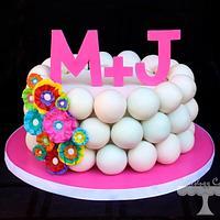 Ruffle Flower Cake Ball Cake