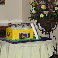 LSU Beer Cooler Groom's Cake by Sweets By Monica