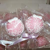 Pink Bow Cake Pops
