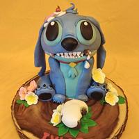 Stitch ate the cake!!