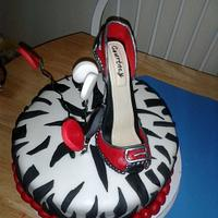 Zebra Print, High Heel Birthday Cake