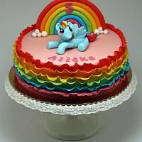 Ruffle Rainbow Cake