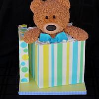 Teddy Bear in a Gift Box